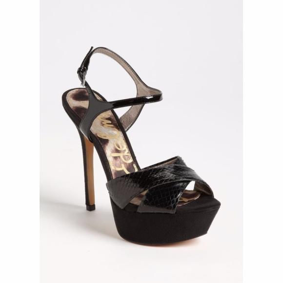 97aa35e0f641 Sam Edelman Black Mason Platform Strappy Sandals